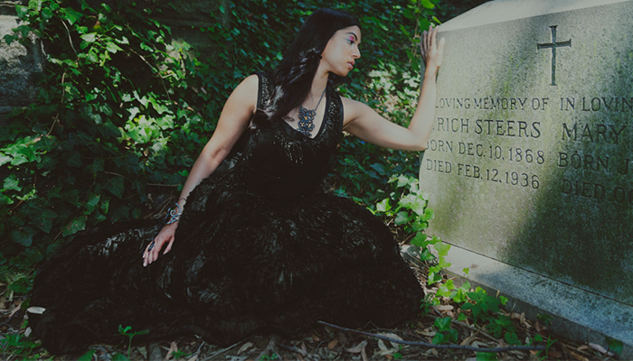 Fashion Editorial: Found Love in a Graveyard