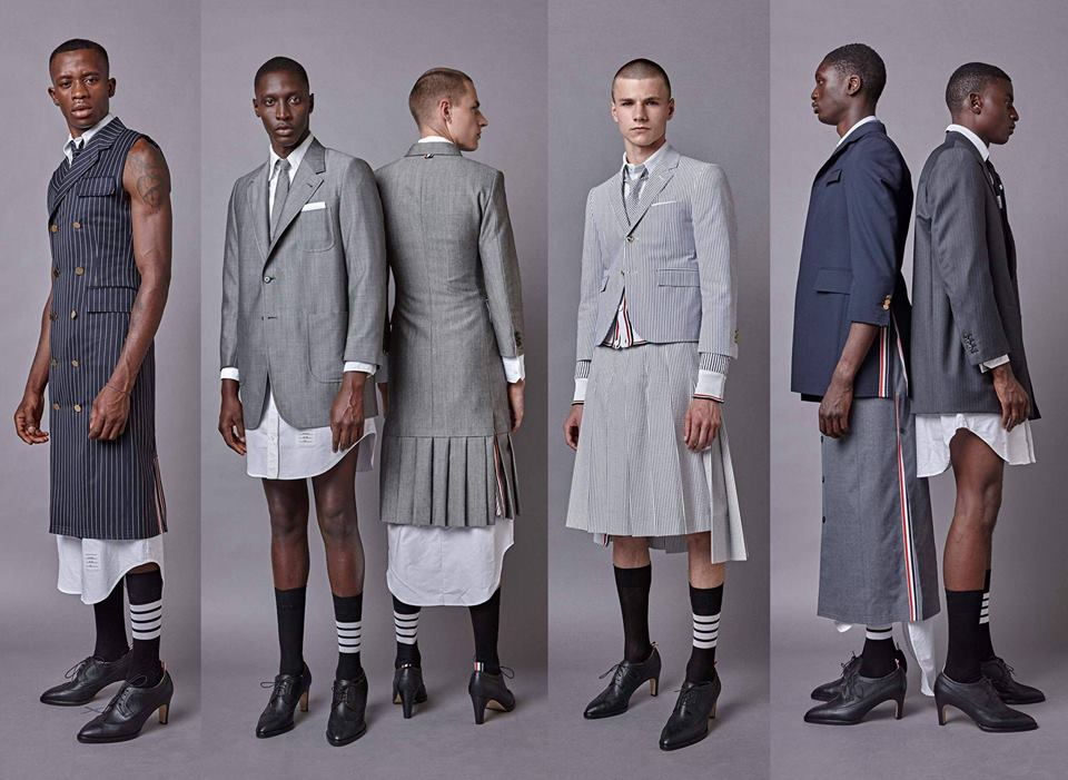 Dress Shirts, Maxi dresses, Pleated Skirts and High Heels For Men