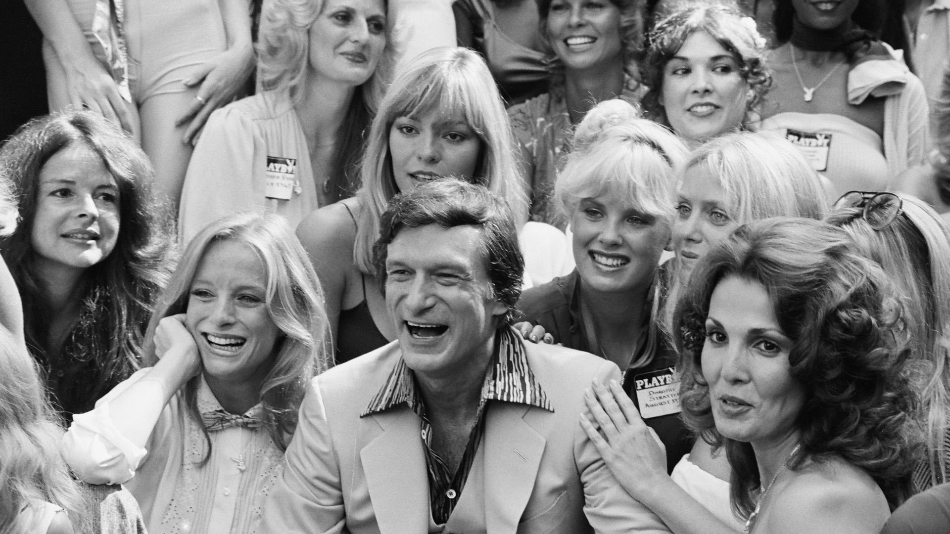 Hugh Hefner, founder of Playboy magazine
