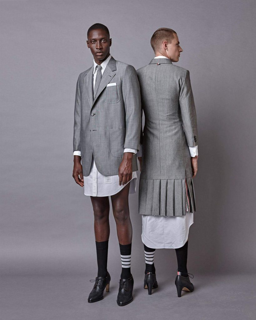 dress shirts maxi dresses pleated skirts and high heels for men