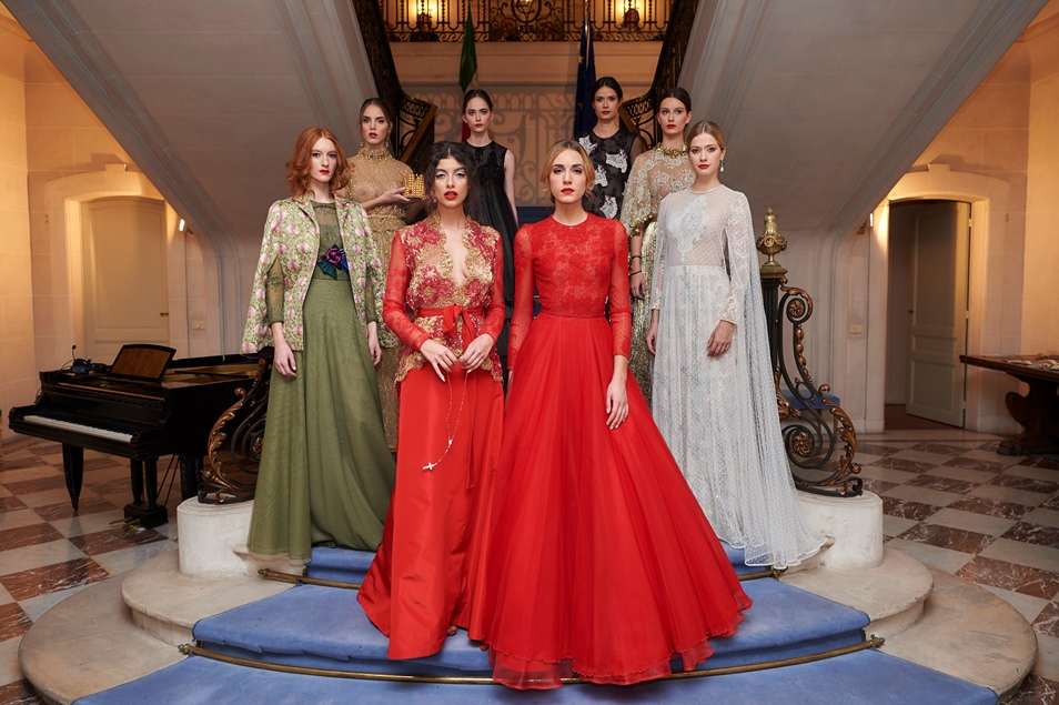 MICHELE MIGLIONICO: HIGH FASHION SHOW AT THE EMBASSY OF ITALY IN BRUSSELS