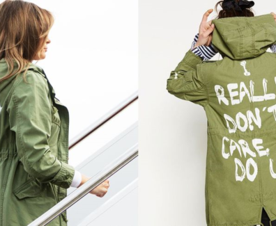 Melania Trump Wears a Coat That Says 'I REALLY DON'T CARE DO U?'