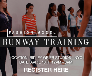 Professional Fashion Model Runway Training