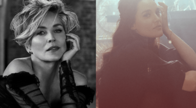 Hayley Sales and Sharon Stone